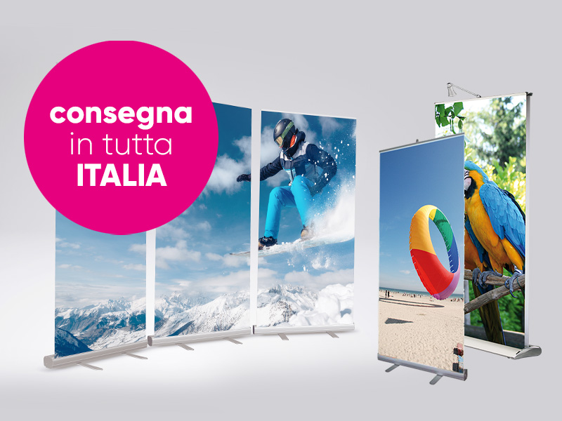 Roll-up consegna in tutta Italia